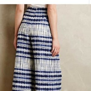 Anthropologie Pants - CoreyLynnCalter Linen Blend Wide Leg Cropped Pants